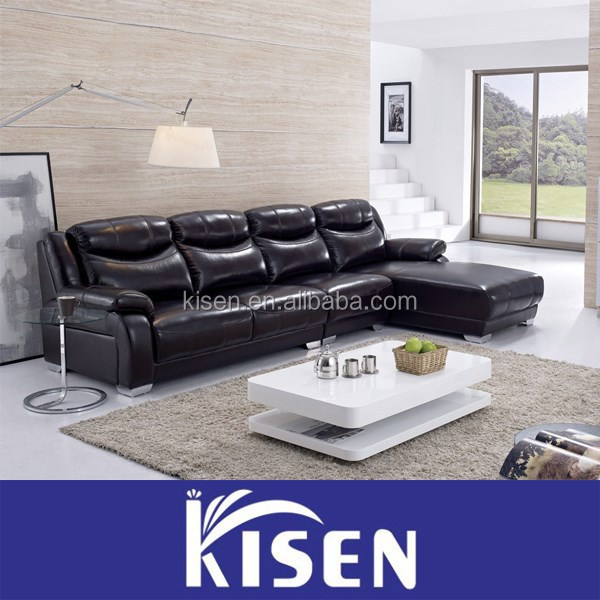 Good quality leather sectional sofa modern furniture affordable