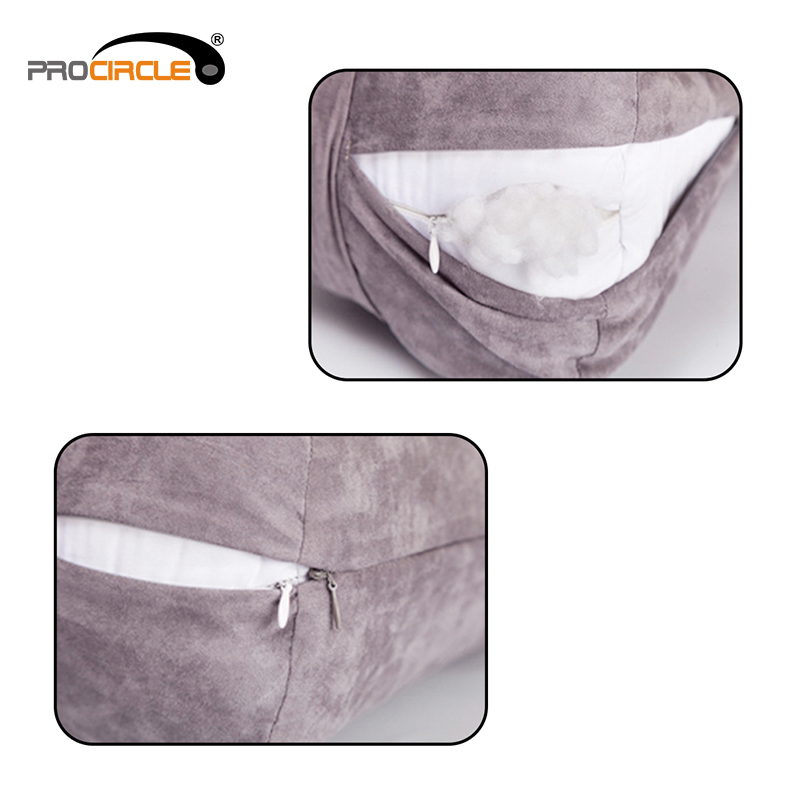 Wholesale Soft Faux Suede Covers Yoga Pillow