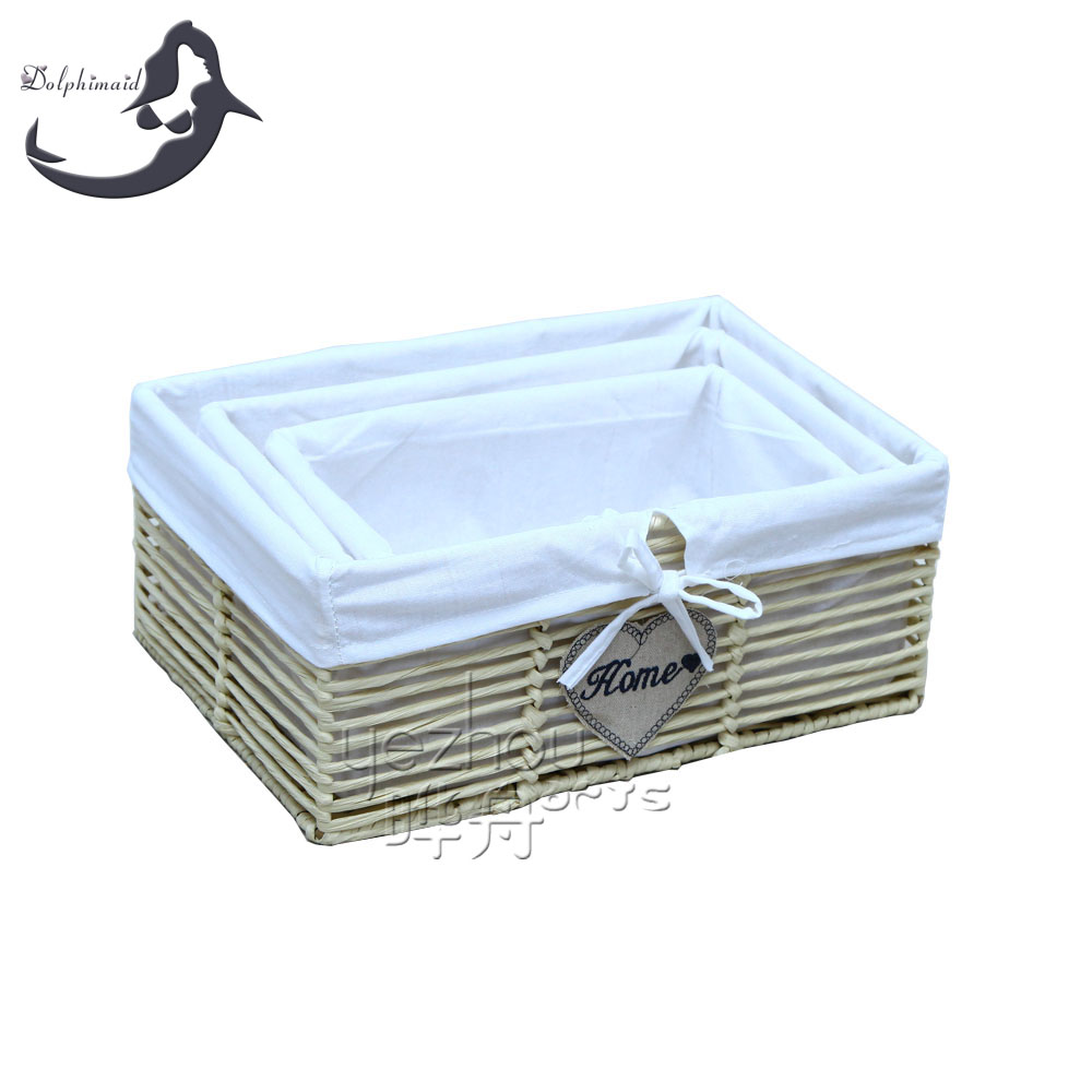 Hot Sale Paper Rope Storage Baskets Handmade Eco Friendly Paper Rope Basket.  U003e