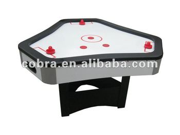 Triangular Mdf Ice Air Hockey Tablehockey Game Table For 3 Person