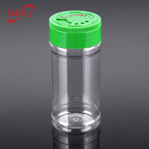 4 oz.plastic spice flip top bottle cap,250ml PET flavoring pot on sale