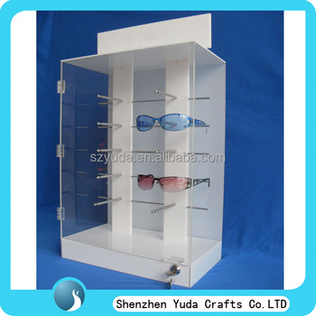 Eyeglasses Frame Display Carrying Showcase : Max Capacity Eyewear Display Case With Metal Hooks ...