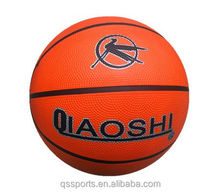 Promotional colorful rubber material design basketball