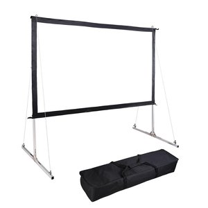 150 inch fast fold projector screen outdoor projection screen