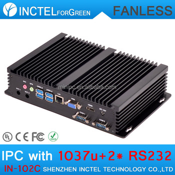 8G RAM 64G SSD High Performance Fanless Mini PC Desktop Computer with 2*COM 4*USB 3.0 Intel Celeron 1037u Processor