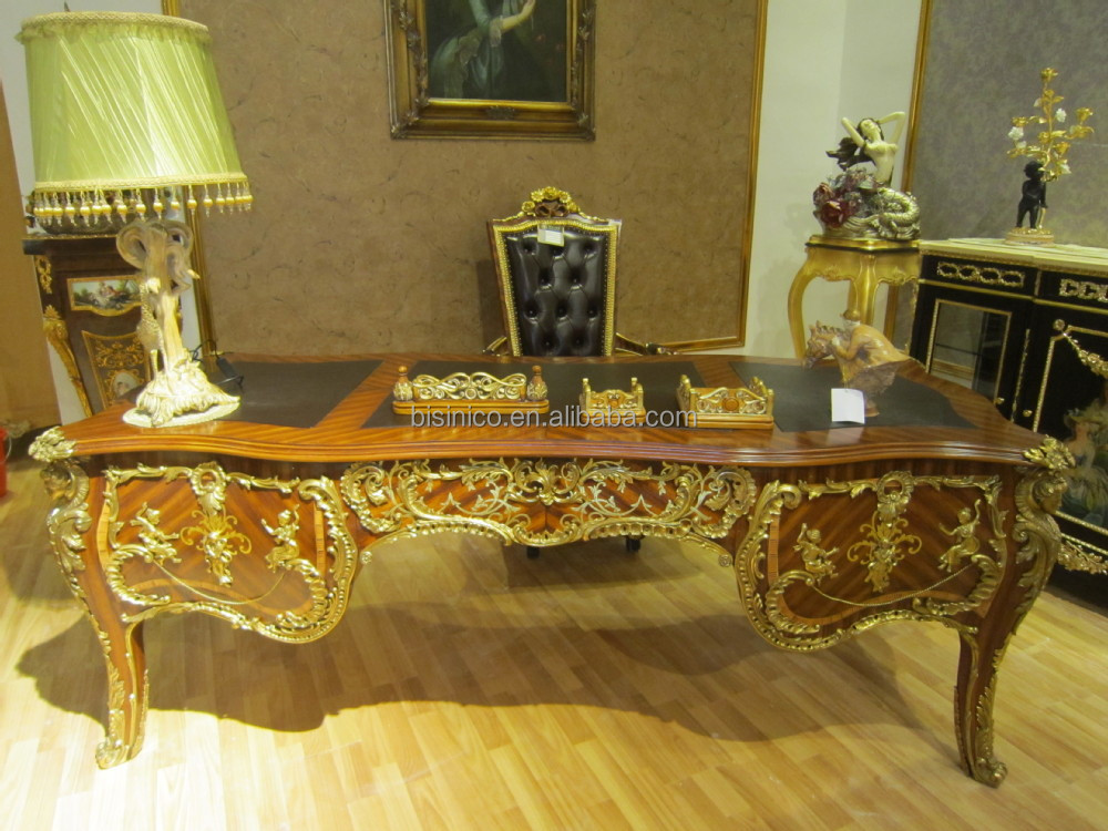 Luxury French Louis Xv Style Office Desk/ Royal Palace Study Room ...