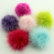 Fashion Charm Genuine mink Fur pom poms ball for key chain/ handbag pendant