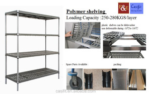 Commercial heavy duty plastic coated wire shelving