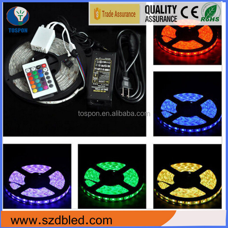 LED Lamp 5M 300LEDs RGB 5050/3528 solar powered led strip light