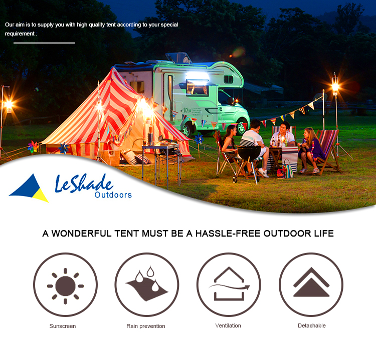 Large 10-20 square meters waterproof portable camping bed tulip bell tent