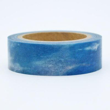 1Roll High Quality 15mm Width Sky Pattern Japanese Washi Decorative Adhesive DIY Masking Paper Tape Sticker Free shipping