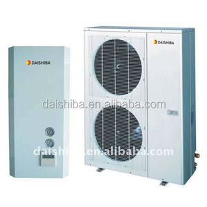 Cheap multifunctional split air source heat pump meet floor heating,cooling and life hot water with only fan coil