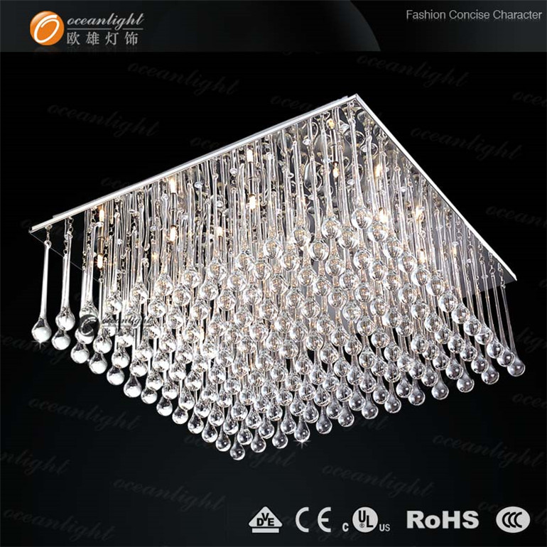 Stainless Steel Base Glass Ceiling Light,Square Candy Floss Shape ...