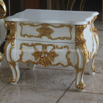 Antique bedside tables white painted racoco bedside with gilded antique bedside tables white painted racoco bedside with gilded carving watchthetrailerfo