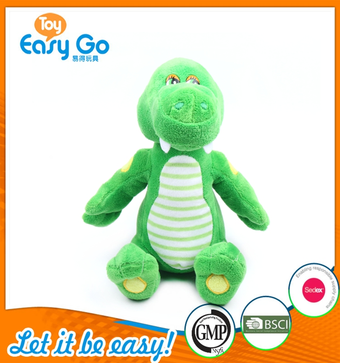 Lovely Wholesale Standing Green Dinosaur Toys With Beautiful Eyes
