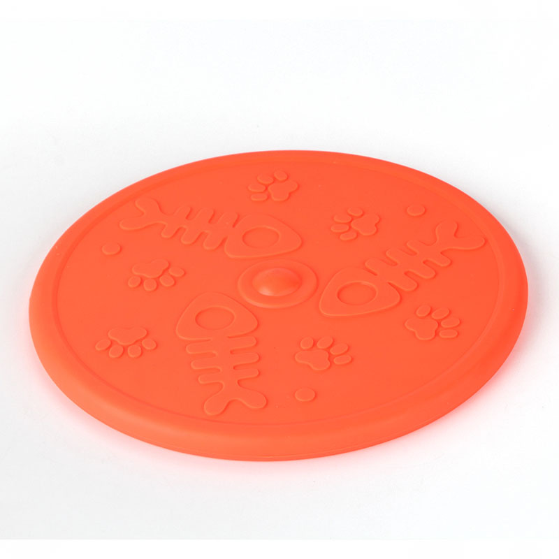 Rubber dog pet toy flying frisbee for promotion