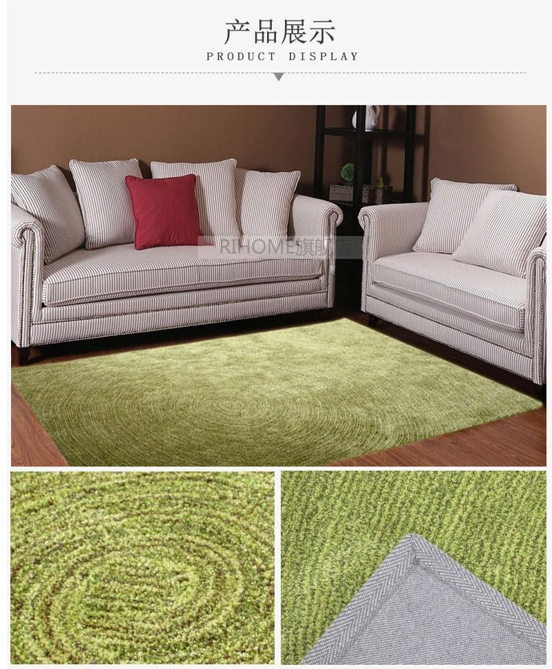 Rihome Anti Slip Rug Indoor Mat Carpet