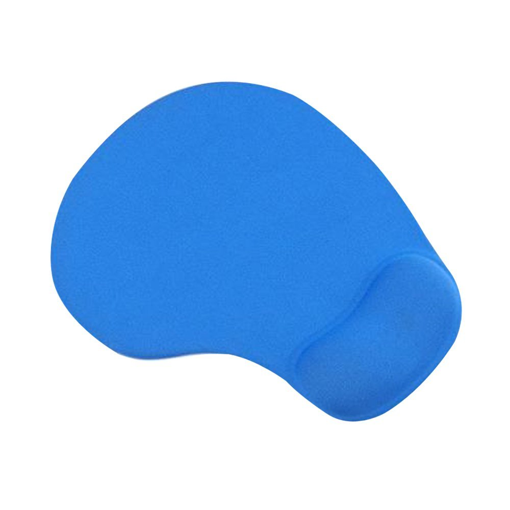 Cuitan Silicone Mouse Pad with Wrist Rest Support, Anti-slip Comfort Anti-Fatigue Mice Mouse Mat Wrist Rest Cushion Wrist Support Pad for Laptop, Notebook, Computer PC - Sky Blue