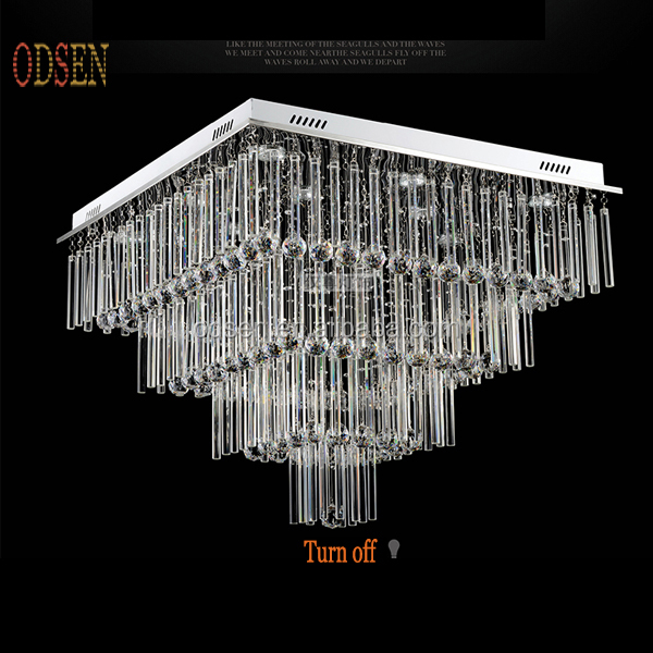 <strong>Modern</strong> fashion ceiling lamp hall decorative hanging light square crystal chandeliers
