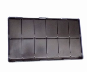 Custom Cheap black Hips hard vacuum formed plastic tray
