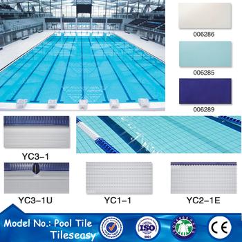 Non slip swimming pool tiles ceramic sky blue wall pool - Non slip tiles for swimming pools ...