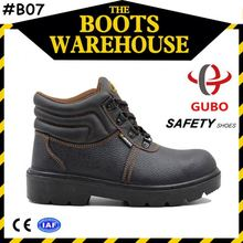 Middle Leather PU/TPU Injection Acid Resistant Steel Toe Security Guard Safety Boot