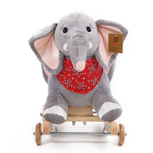 high quality colorful toy elephant rocking horse toys