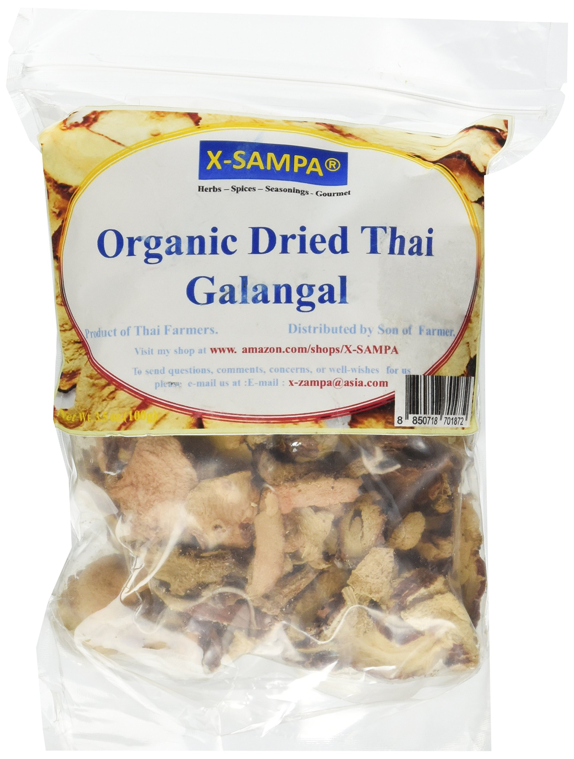 Yours Kitchen Organic Dried Thai Galangal Slice From My Farm (3.5 Ounce)