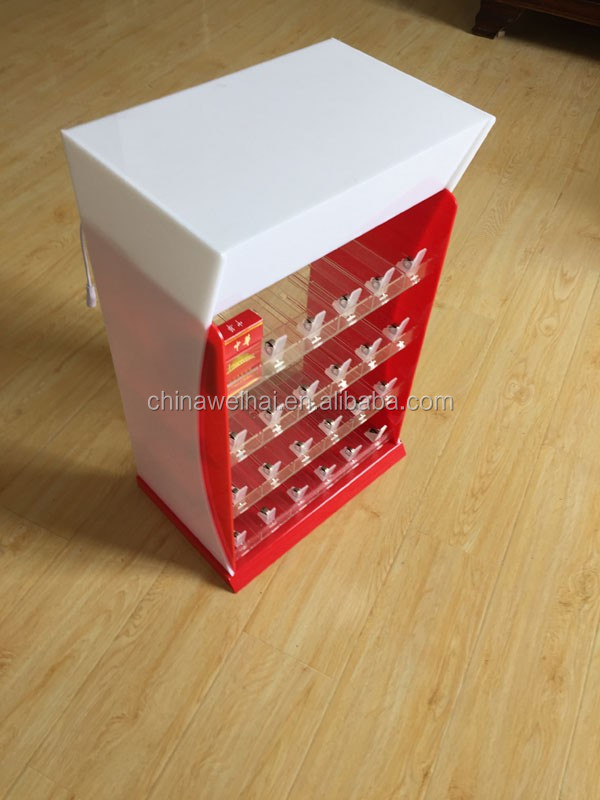 acrylic cigarette display cabinet with pushers