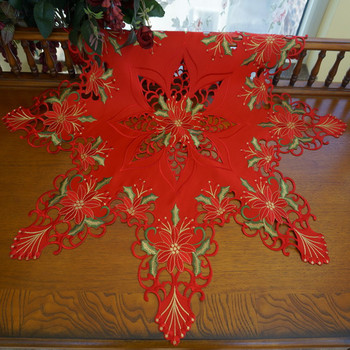 Christmas Tablecloths.Designer Triangle Embroidered Christmas Tablecloth Buy Triangle Table Cloth Embroidered Christmas Tablecloth Designer Christmas Tablecloths Product