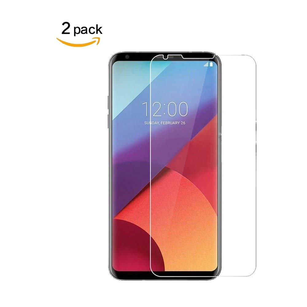 [2 Pack] for LG V30 Tempered Screen Protector,Penacase[9H Hardness][Bubble Free][Ultra-Clear][Scratch Proof] HD Clear Screen Protector Compatible for LG V30
