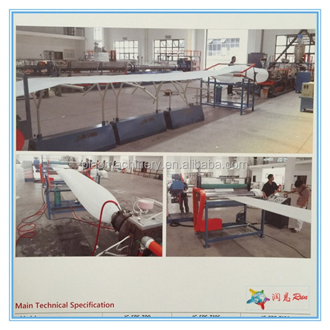 Full Production Line Expanded Polyethylene Foam Sheet Roll Making Plant