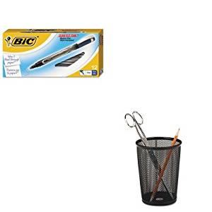 KITBICFPIN11BEROL62557 - Value Kit - BIC Intensity Permanent Pen (BICFPIN11BE) and Rolodex Nestable Jumbo Wire Mesh Pencil Cup (ROL62557)