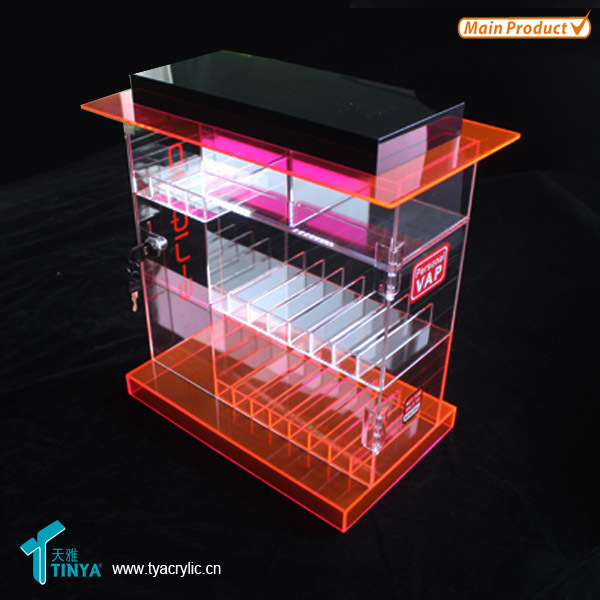 New 4 Tier With Door & Key Acrylic E-liquid Display E Cigarette ...