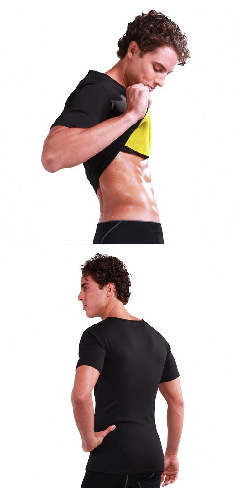 HOT SHAPER Mens Shaper Shirt Running Burning Fat Tank Tops Neoprene Perspire