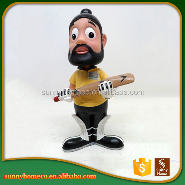 Hot Selling custom Resin 3D sportsman Bobble Head souvenir