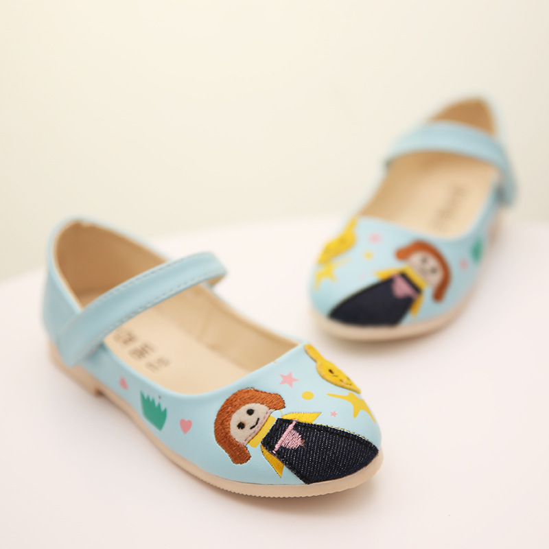 28dce5ffebbe9 Get Quotations · Girls shoes 2015 cartoon leather princess shoes for girls  flats light Korean flat shoes for children