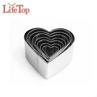Stainless Steel Biscuit Pastry Cutters Heart Shaped Cookie Cutter