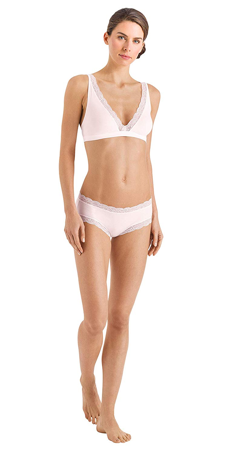 dfe1375aef3fb Get Quotations · HANRO Women s Cotton Lace Soft Cup Bra 72431