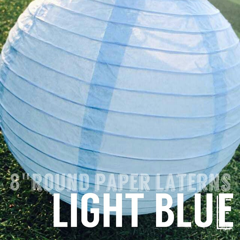 light blue paper lantern for Wedding Christmas Baby birthday Party Shopping Mall Decoration