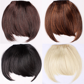 women Front Hair Bangs Extension Clip in Bangs Synthetic Heat Resistant  Fiber Hair Fringe s 9fd5a93dc4