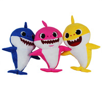 Cute Animal Plush Dolls Baby Shark Singing English Song Soft Safe Kids Dolls