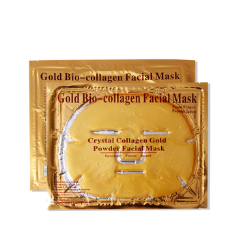 Crystal beauty Face masks collagen 24k gold whitening moisturizing facial masks