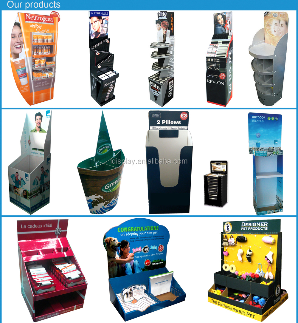 Table top product display - Tabletop Cardboard Display Stands For Vitamin Bottles 3 Tier Table Top Display