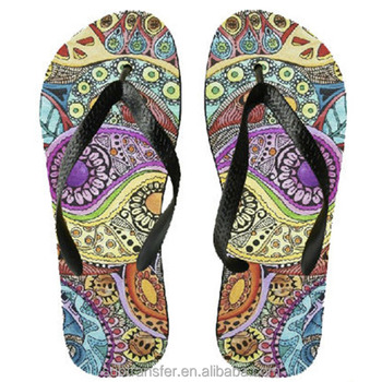 2ffe83f2272639 Personalized Coloured Sublimation Printing Flip Flops Slippers ...