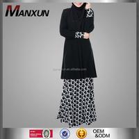 Plus Size Muslim Baju Kurung Elegant Ladies Suit Print Malaysia Baju Kebaya Islamic Clothes Online