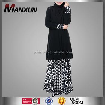 Plus Size Muslim Baju Kurung Elegant Ladies Suit Print Malaysia Baju