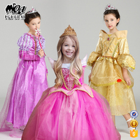 Christmas Baby Girl Costume Stage Perfrom Play Frozen Dress Princess Cosplay Kids Child Long Sleeveless Clothing SMR003