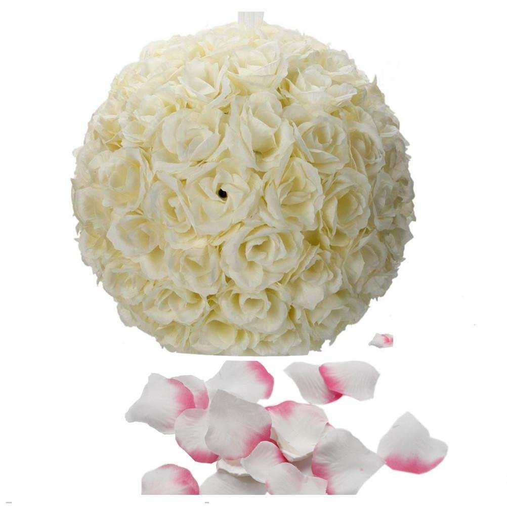 Buy 2pcs artificial romantic rose flower ball bridal bouquets 500 2pcs artificial romantic rose flower ball bridal bouquets 500 piece artificial rose flower petals for izmirmasajfo