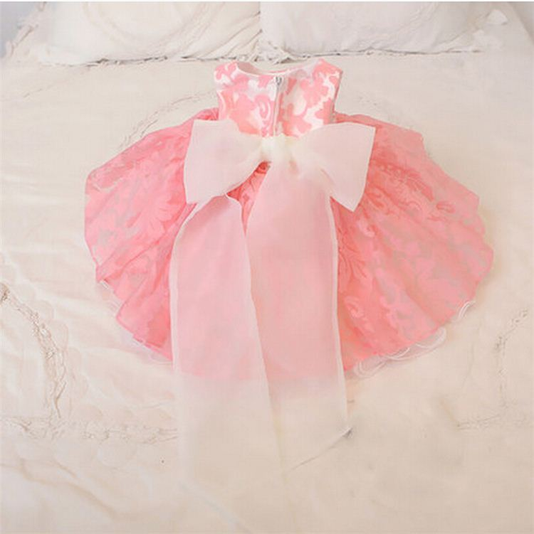 14729a226 2016 New Summer Princess Girls Clothes White pink Flowers Tulle Lace ...